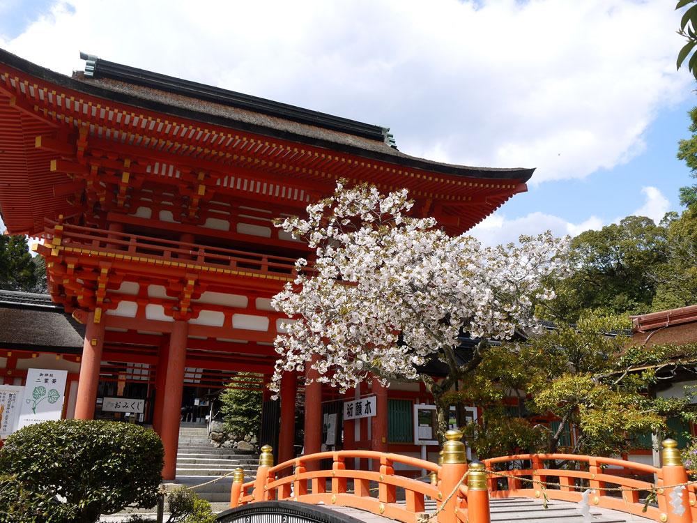 上賀茂神社の楼門の写真素材