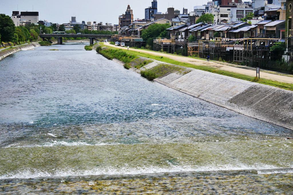 納涼床 鴨川の写真素材