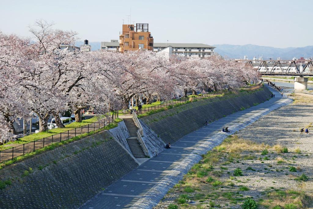 京都の電車の写真素材