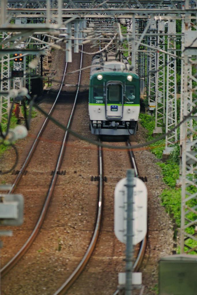 京都の京阪電車の写真素材