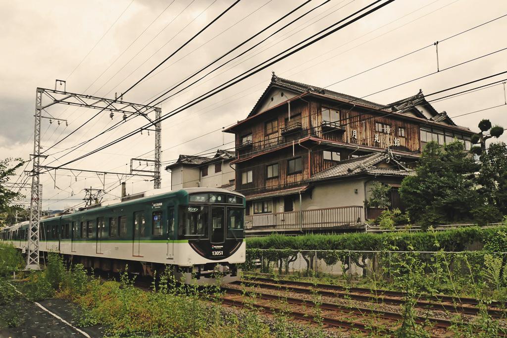 京阪電車の写真素材