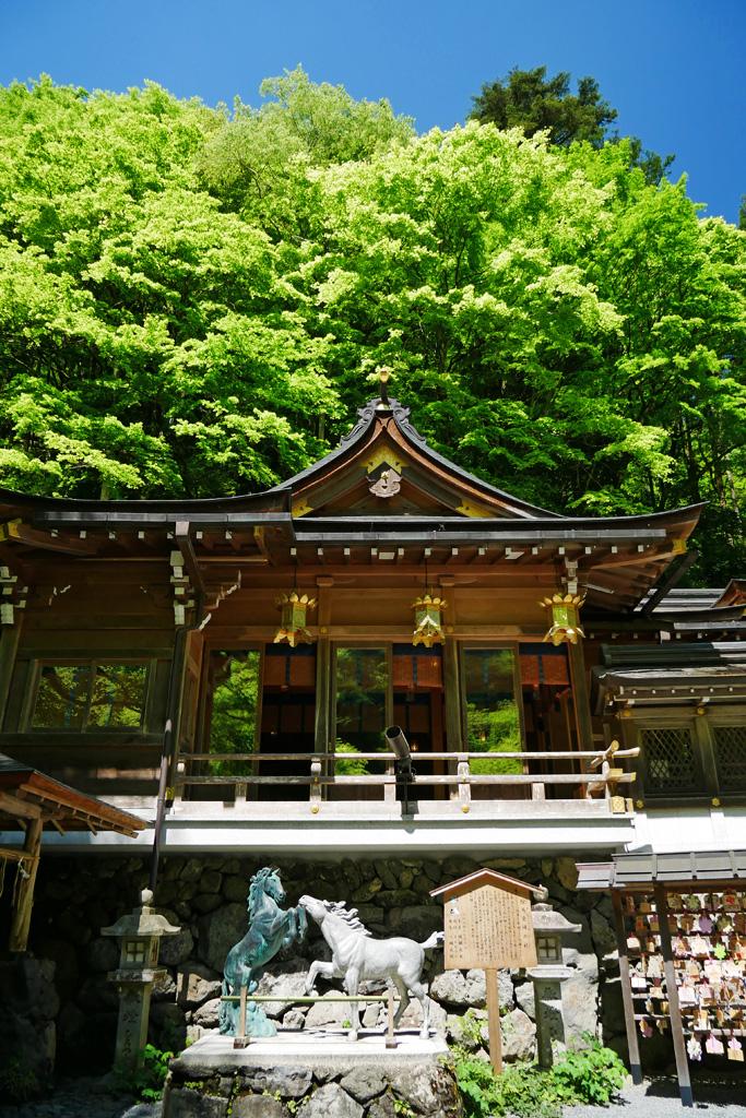 貴船神社の本宮 写真素材
