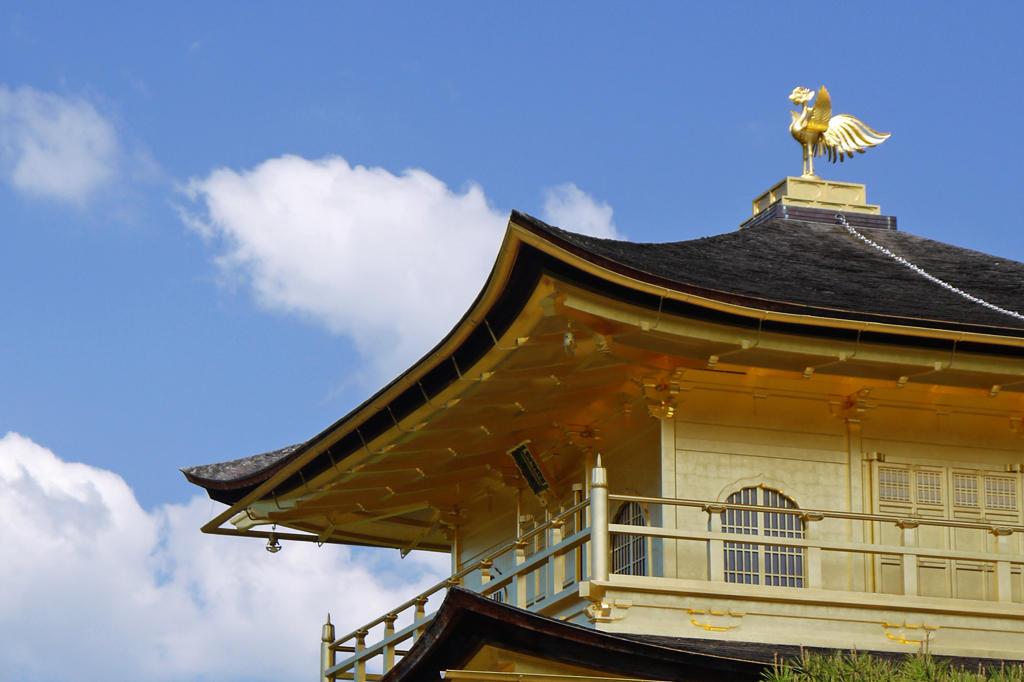 金閣寺の鳳凰の写真素材