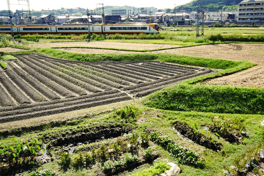 京田辺市 近鉄電車の写真素材