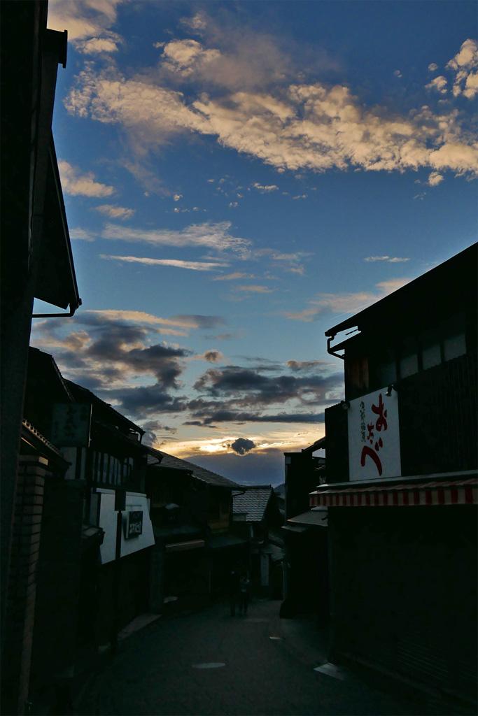 京都の清水坂の写真素材