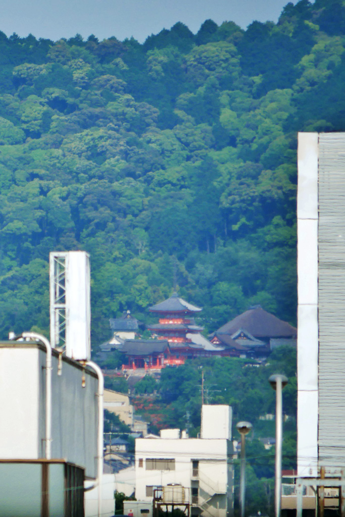 京都リサーチパークから見た清水寺の写真素材