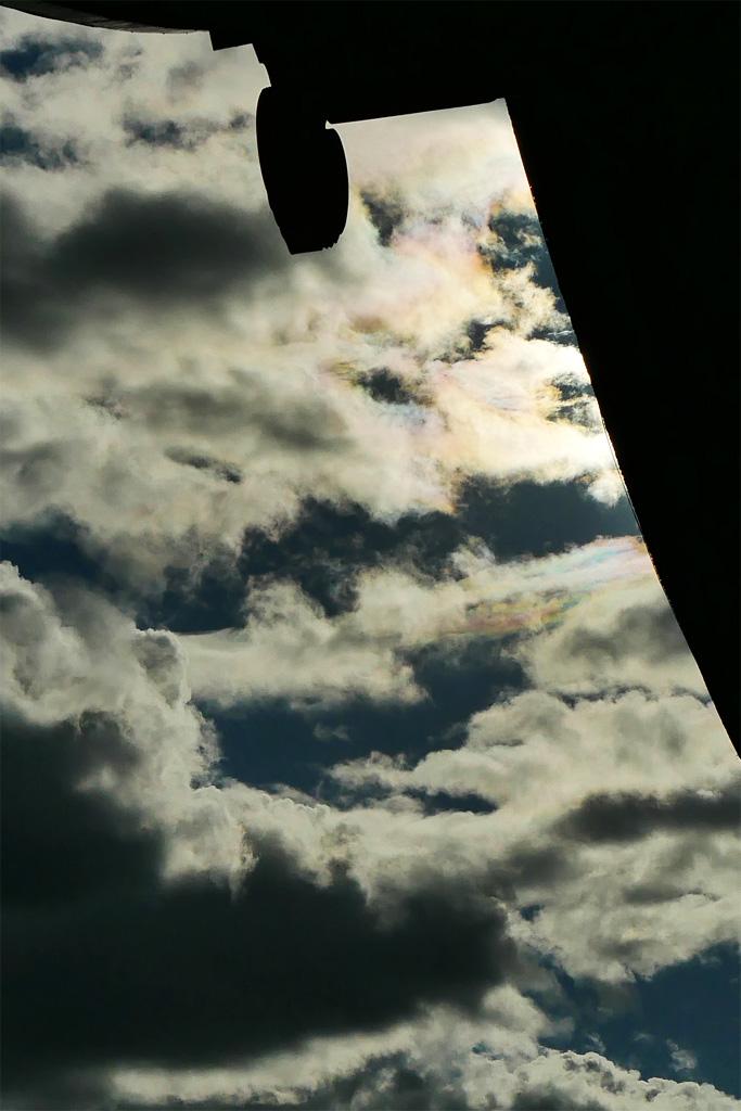 彩雲と空の写真素材