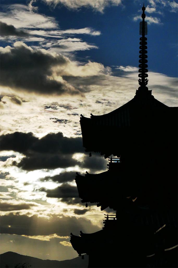清水寺の三重塔の写真素材