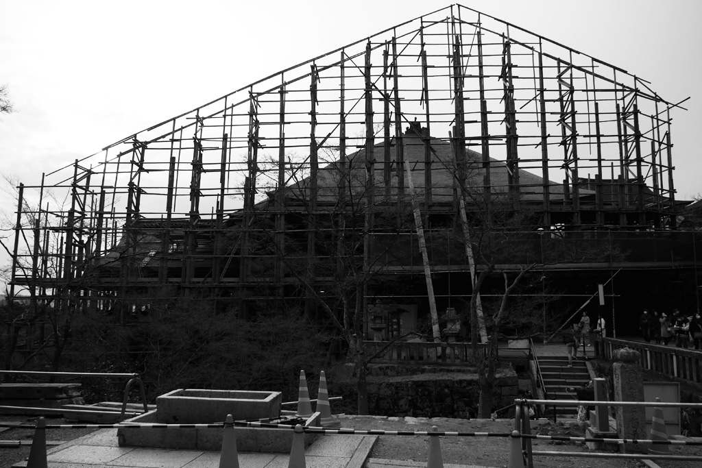 修復工事 清水寺の写真素材