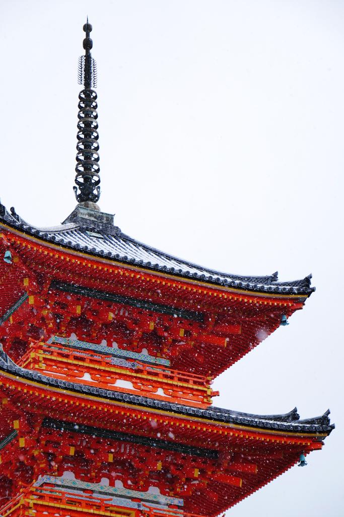 清水寺の冬の写真素材