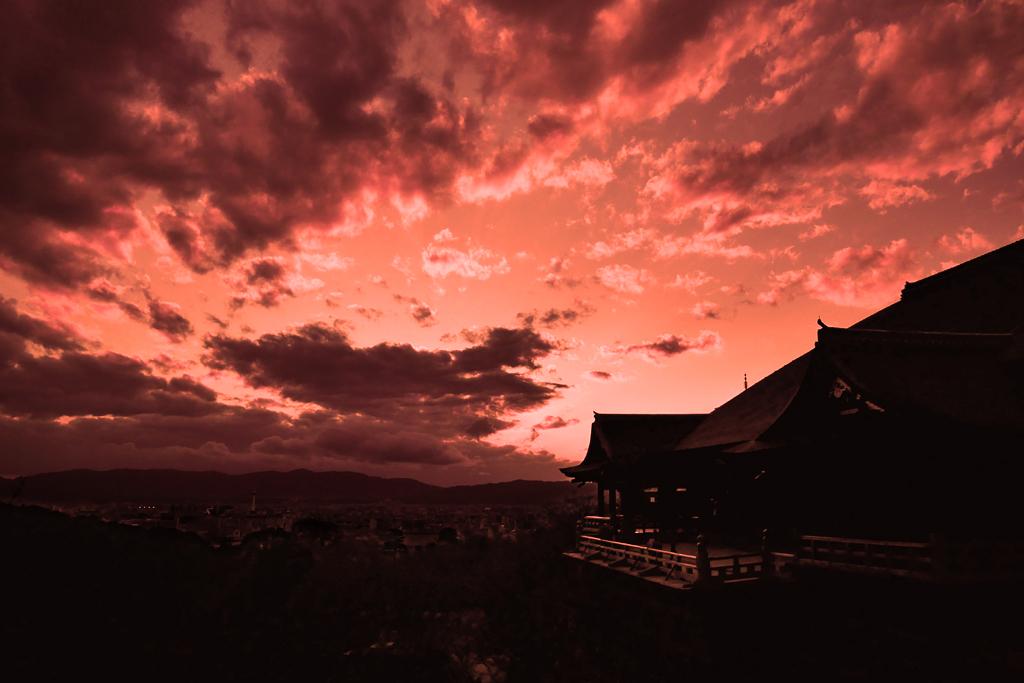 清水寺の舞台の写真素材