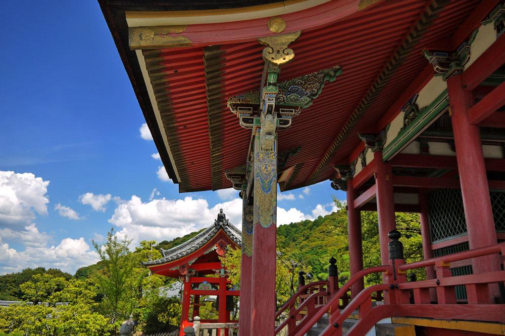 清水寺の夏の写真素材