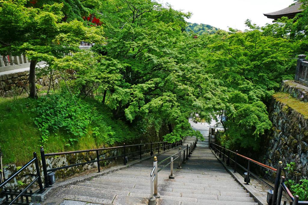 清水寺の階段の写真素材