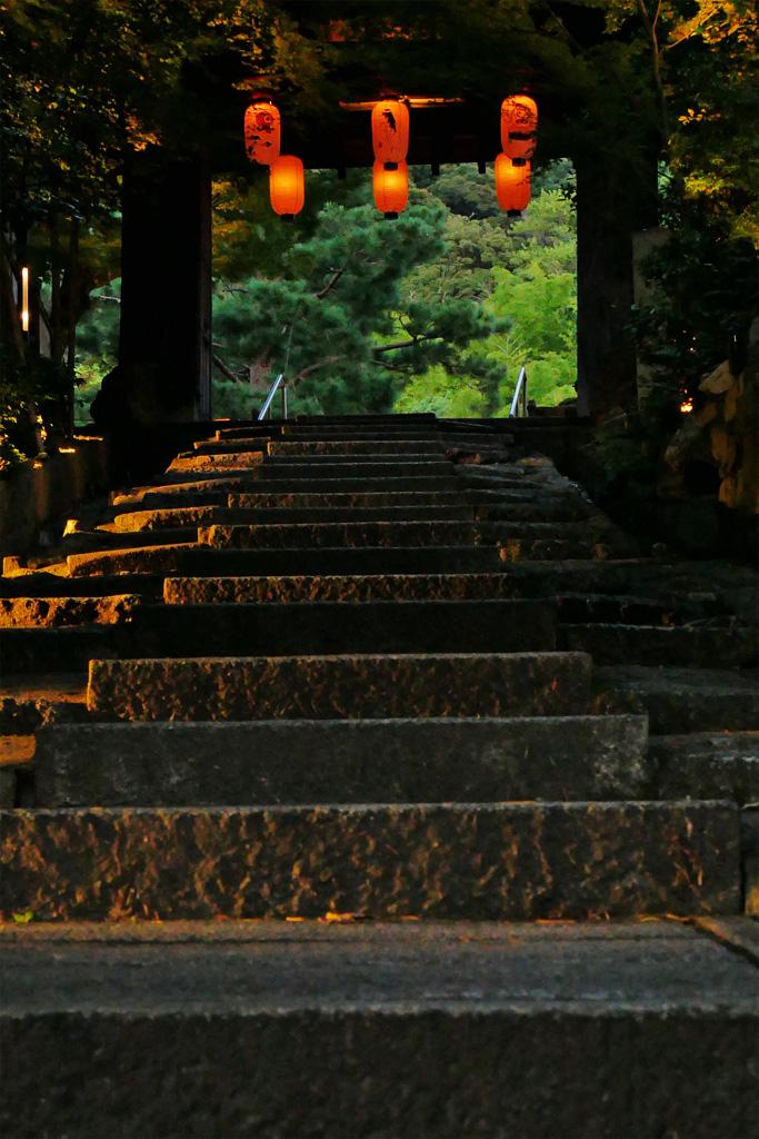 高台寺の台所坂の写真素材