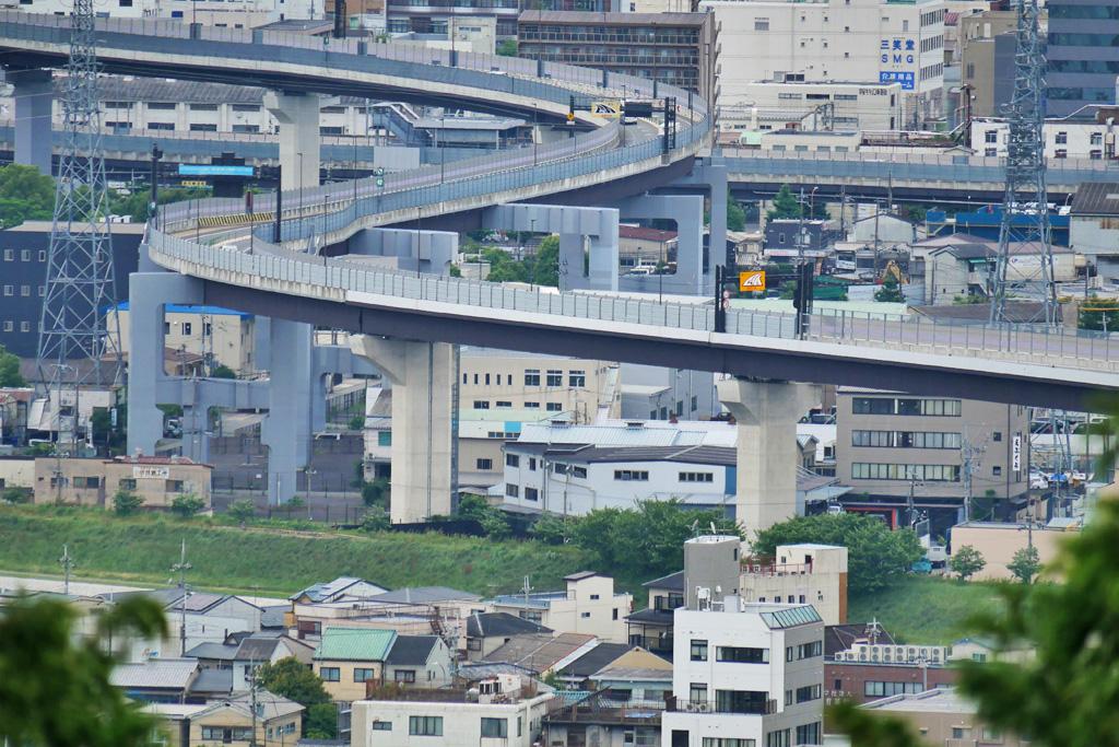 京都の高速道路の写真素材
