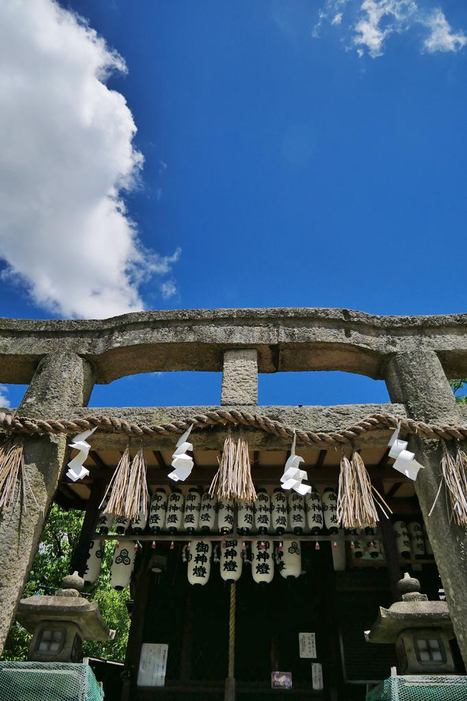 京都御苑 厳島神社の写真素材