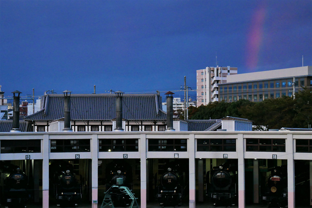 虹 京都鉄道博物館の写真素材