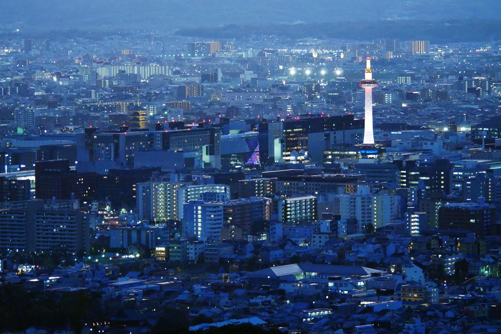 京都タワー・京都駅・東寺の写真素材