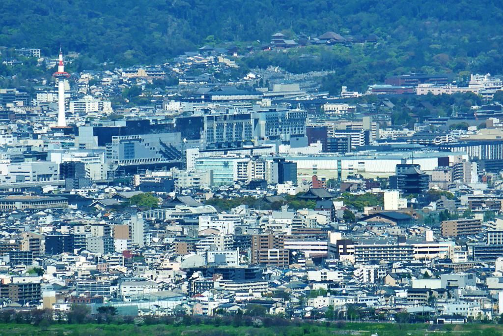 善峯寺からの眺望の写真素材