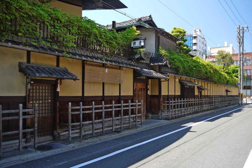 京都の町並みの写真素材