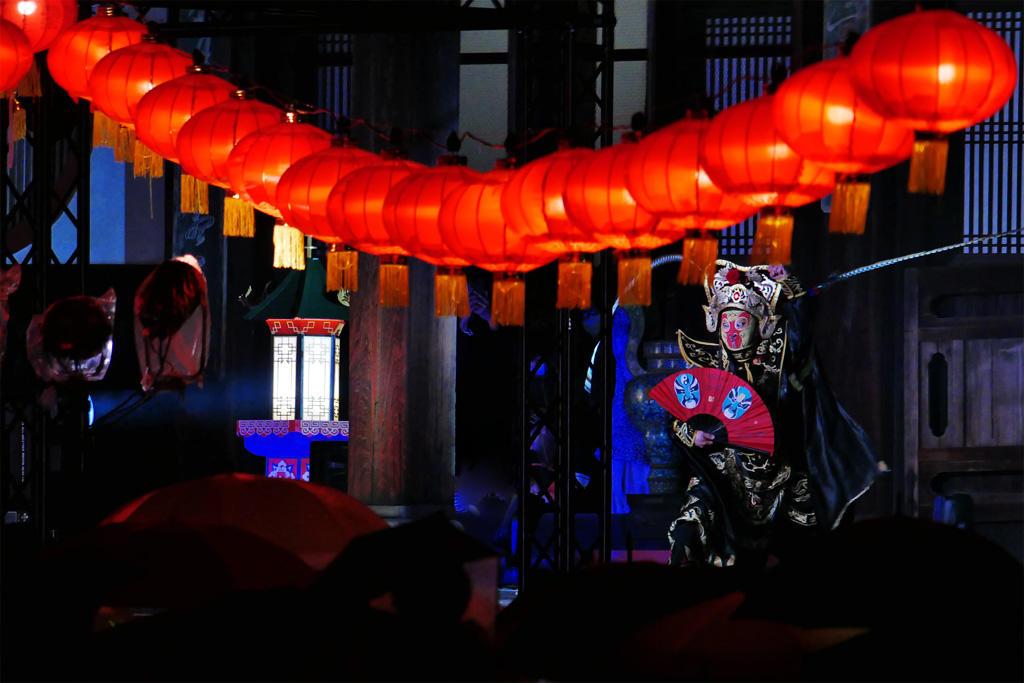 宇治 萬福寺ランタンの写真素材