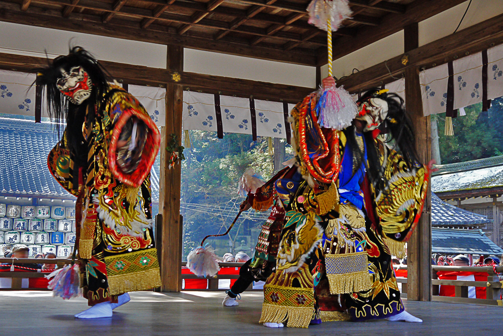 石見神楽 松尾大社の写真素材