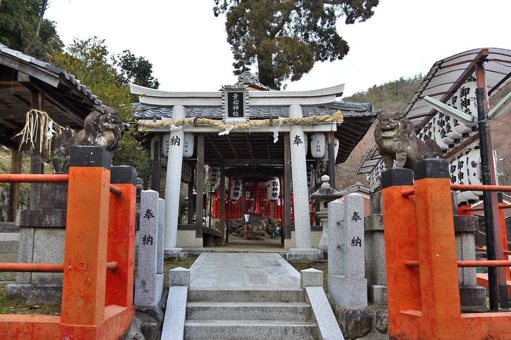 深泥池貴船神社の写真素材