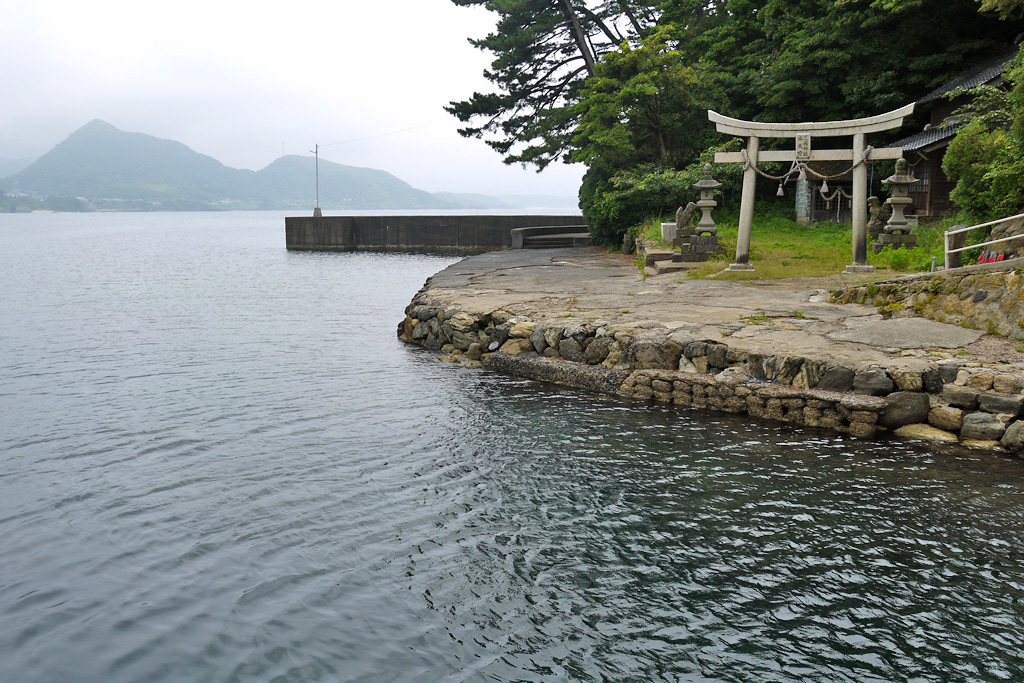 城嶋の三嶋神社の写真素材