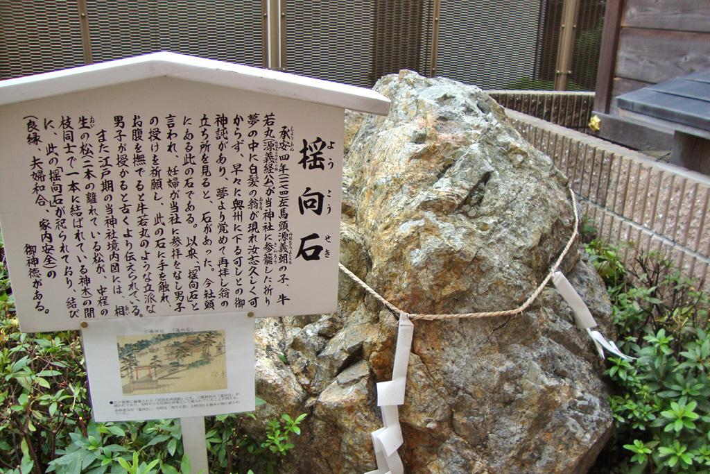 三嶋神社 揺向石の写真素材