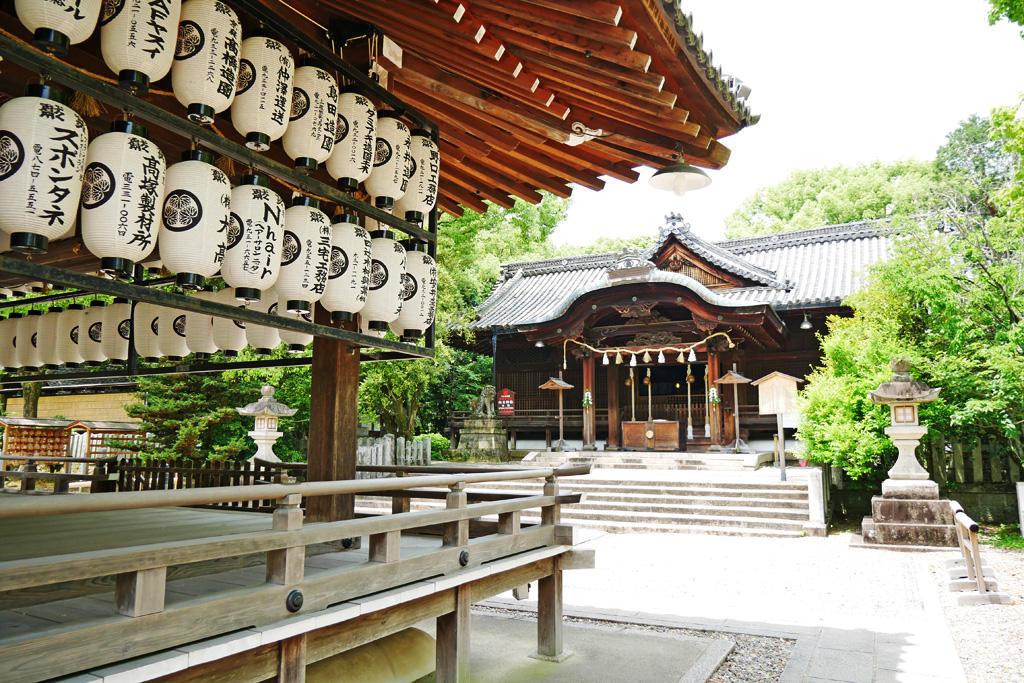 向日神社の本殿の写真素材