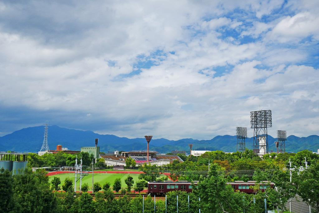 西京極総合運動公園の写真素材