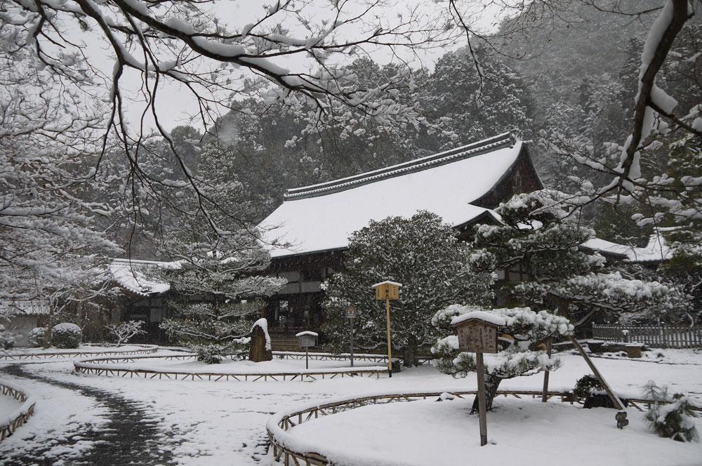 二尊院の雪