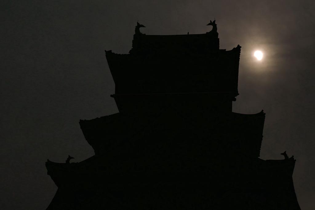 京都の日食の写真素材
