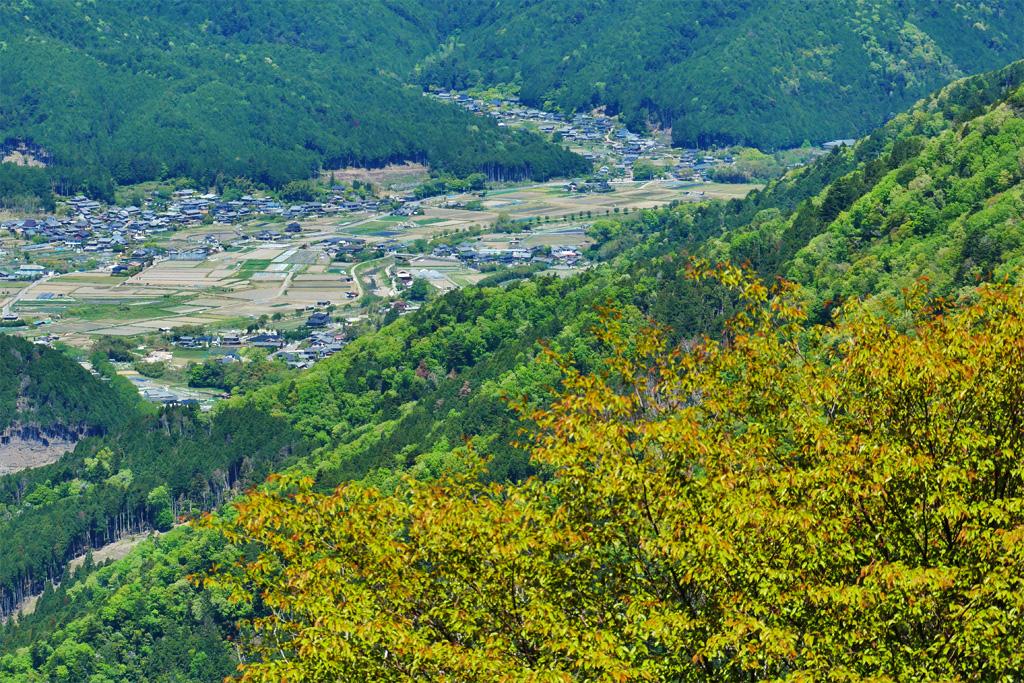 比叡山からの眺望の写真素材