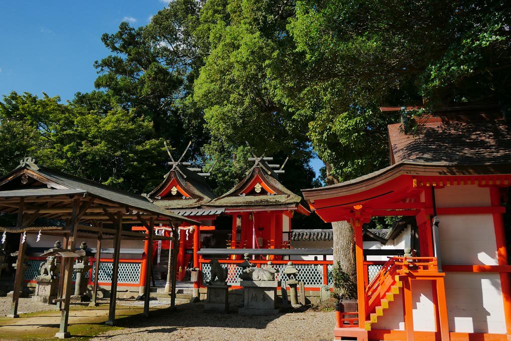 岡田鴨神社の写真素材