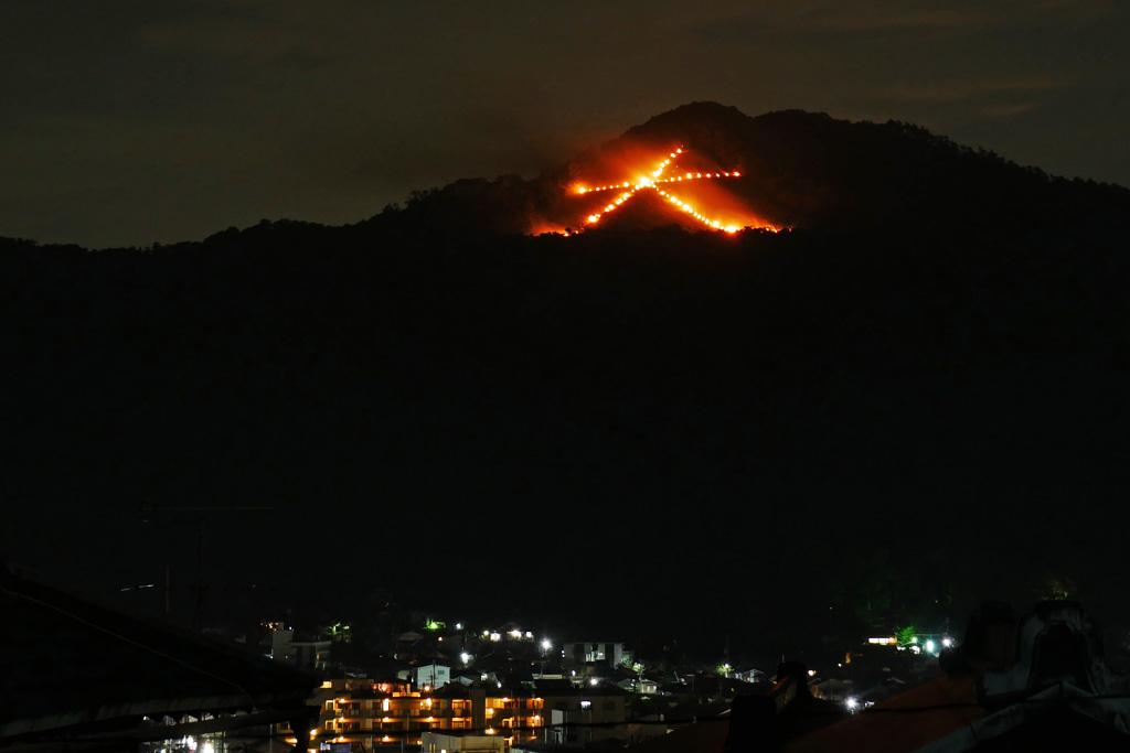 大文字の送り火の写真素材