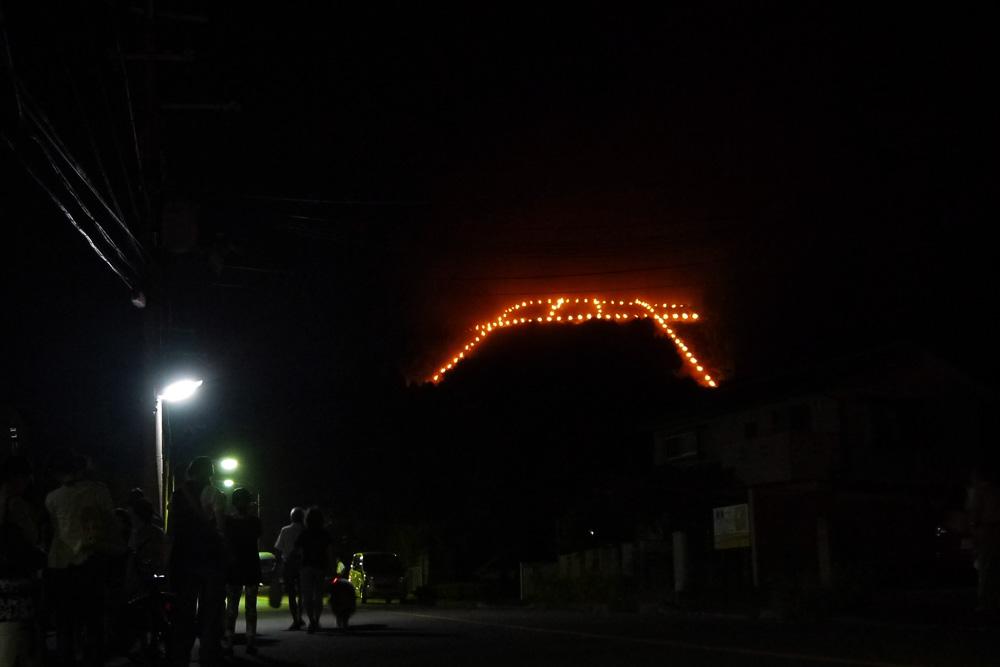 京都 五山の送り火 鳥居形の写真素材