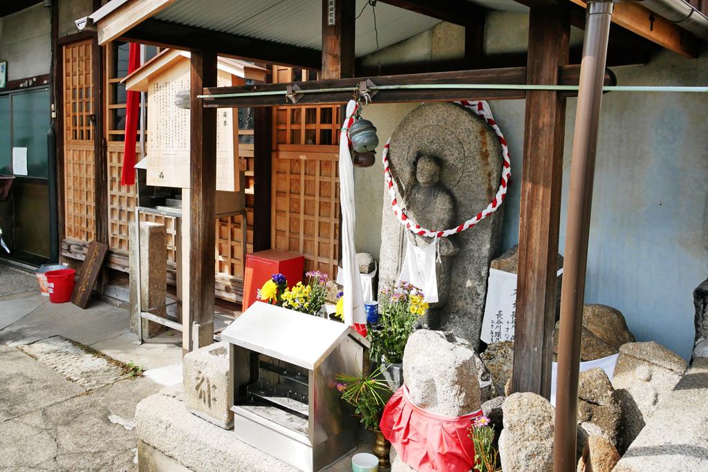 京都の地蔵の写真素材