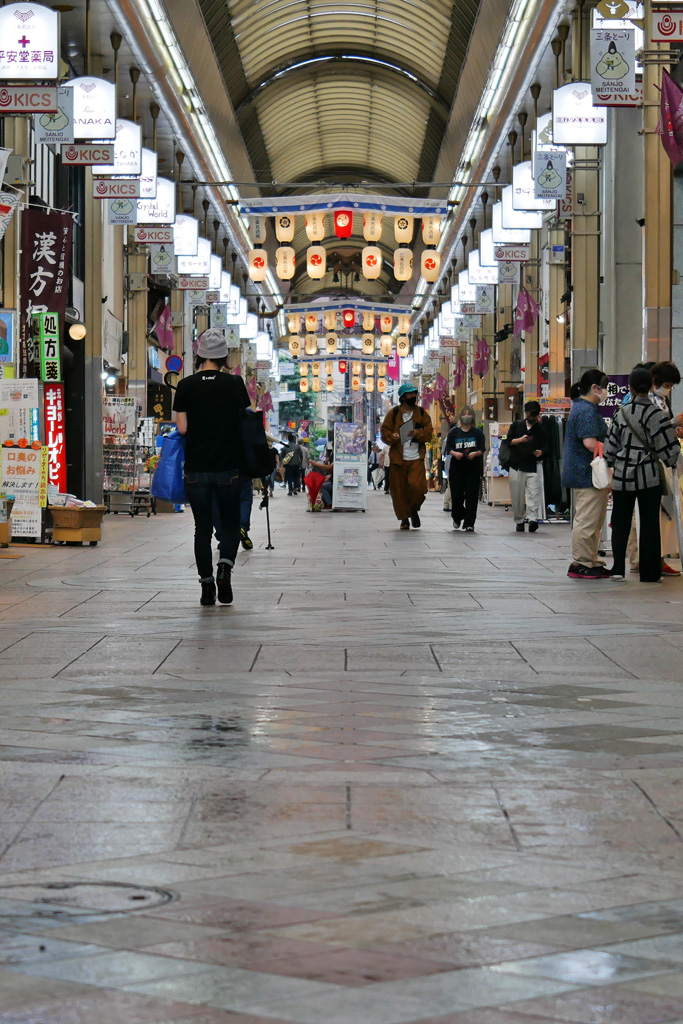 京都三条会商店街の写真素材