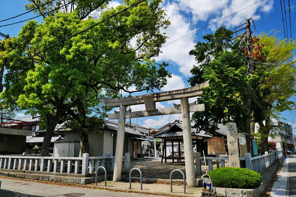 三之宮神社の写真素材