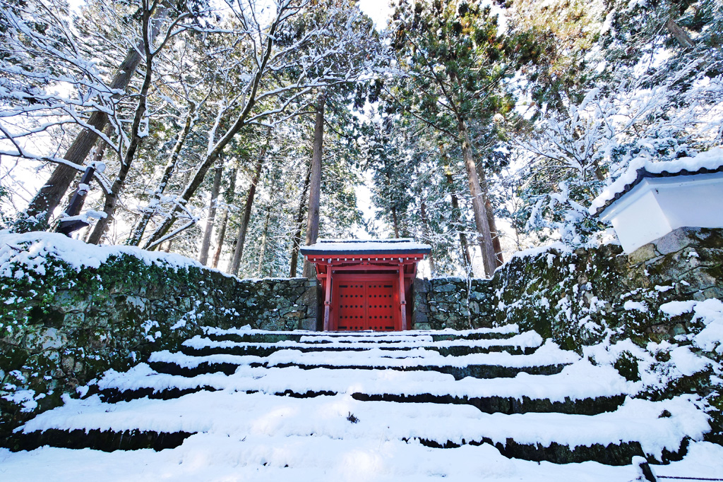 三千院の雪の写真素材