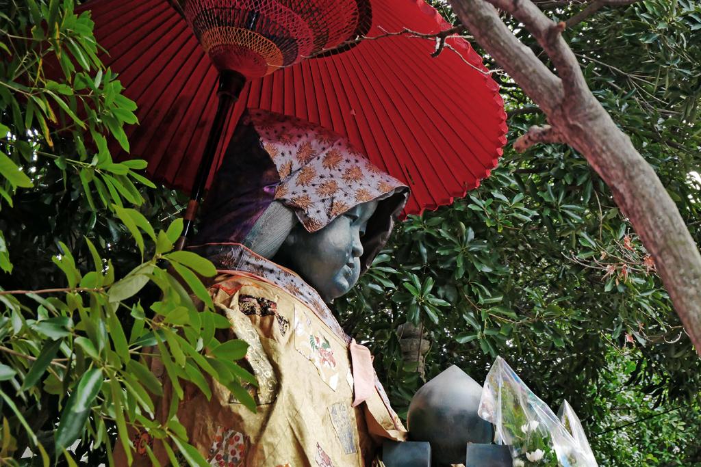 千本釈迦堂おかめ像のの写真素材