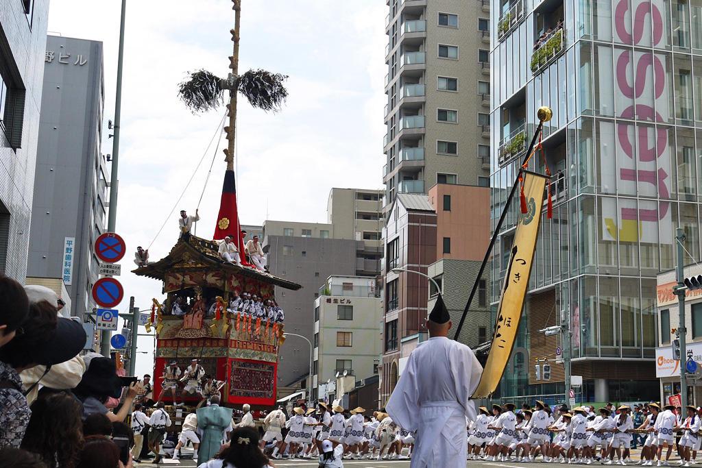 祇園祭 四条通の写真素材