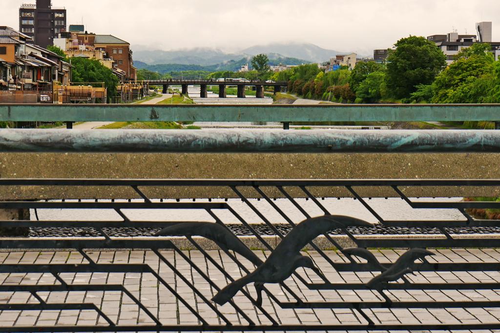 京都の四条大橋の写真素材