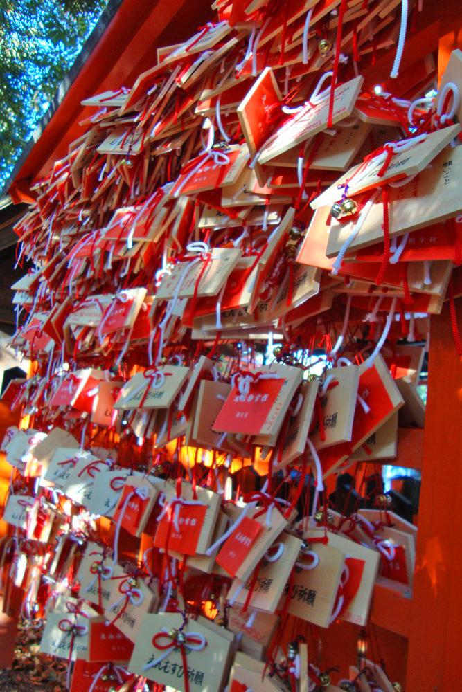 下鴨神社の相生社 絵馬写真素材