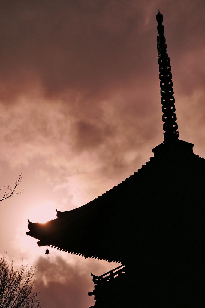 真如堂の三重塔の写真素材