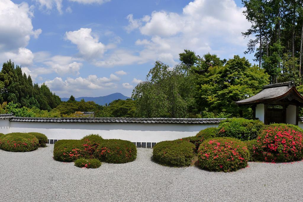 正伝寺 枯山水庭園の写真素材