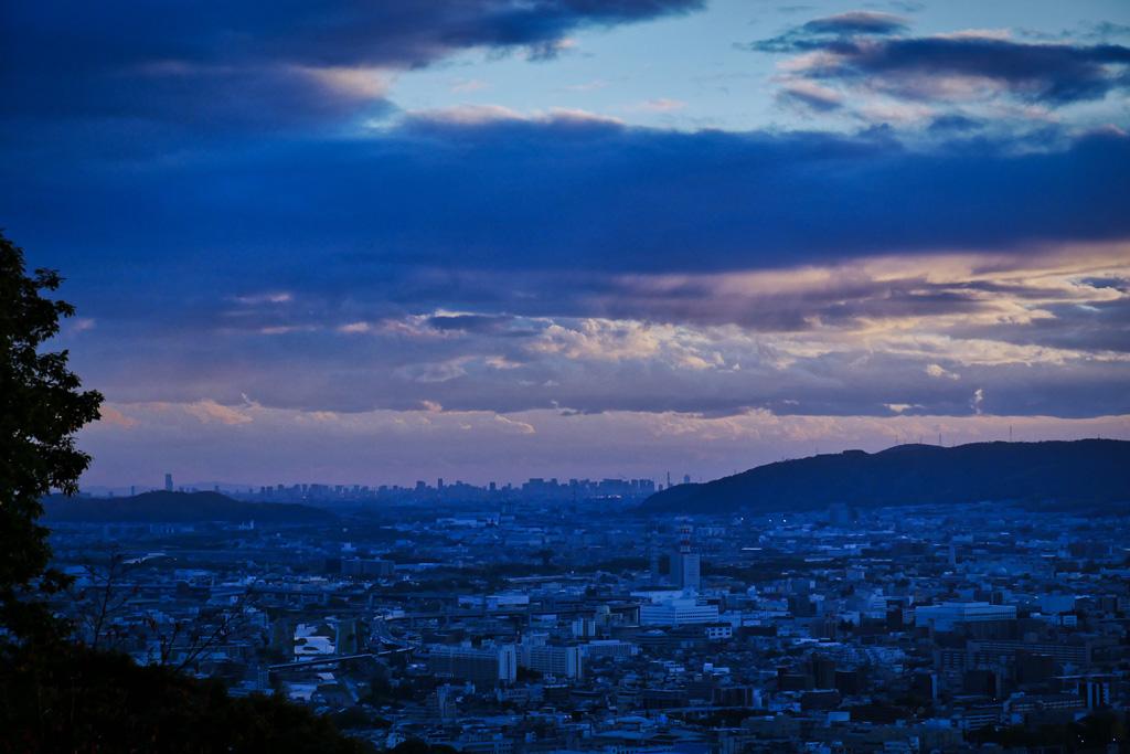 将軍塚市営展望台からの景色の写真素材