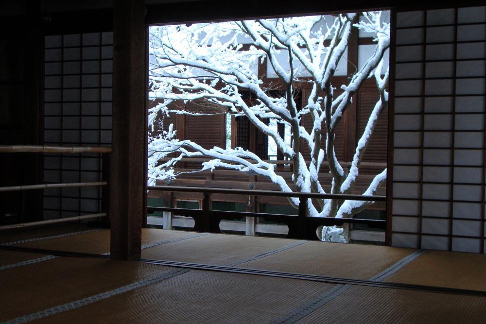 雪の青蓮院門跡