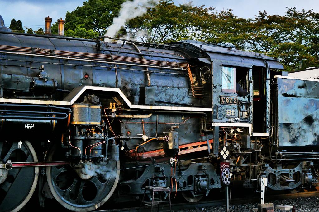 京都の蒸気機関車C62 2の写真素材
